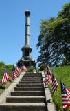 Soldiers monument at the Battle Hill at the Green-Wood cemetery in Brooklyn Stock Photo