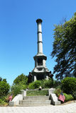 Soldiers monument at the Battle Hill at the Green-Wood cemetery in Brooklyn Royalty Free Stock Photography