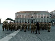 Soldiers in Naples Stock Photography