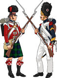 Soldiers from Napoleonic Wars Royalty Free Stock Images