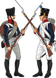 Soldiers from Napoleonic Wars Royalty Free Stock Photo