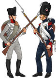 Soldiers from Napoleonic Wars Royalty Free Stock Photography