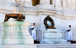 Soldiers near the Tomb of the Unknown Soldier, Rome, Italy Royalty Free Stock Image