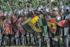 Soldiers Of The Middle Ages Royalty Free Stock Images