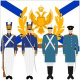 Soldiers and officers of the Russian fleet-1 Royalty Free Stock Photo
