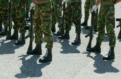 Soldiers in Parade Royalty Free Stock Image
