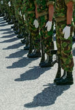 Soldiers in Parade Stock Images