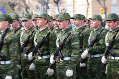 Soldiers at parade Stock Image