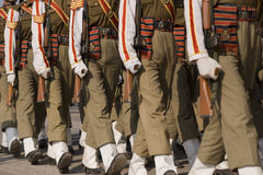 Soldiers on Parade. Soldiers of the Indian Army on parade during preparations for the Republic Day Parade in New Delhi, India Stock Photography