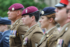 Soldiers on parade in best uniform stock image