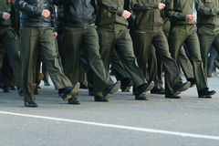 Soldiers parade boots feet Royalty Free Stock Images