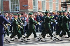Soldiers in the Prince day Parade in The Hague Stock Photography