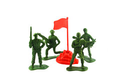 Soldiers Protected lands Royalty Free Stock Image