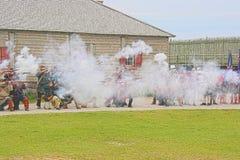 Mackinac , Michigan Soldiers Reenactment Royalty Free Stock Photography