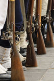 Soldiers and rifles Stock Photos