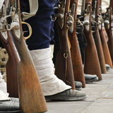 Soldiers and rifles Royalty Free Stock Image