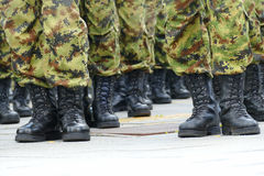 Soldiers in a row Stock Photos