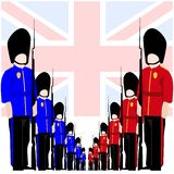 The soldiers of the Royal Guard Royalty Free Stock Image
