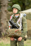 Soldiers in  russia's military exercises. Stock Photography