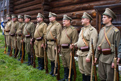 Soldiers of the Russian army the first world war. Royalty Free Stock Image