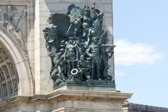 Grand Army Plaza - Brooklyn, New York. Soldiers and Sailors Memorial Arch at the Grand Army Plaza in Brooklyn, New York City Stock Images