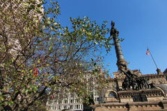 Soldiers' and Sailors' Monument Cleveland. The Cuyahoga County Soldiers' and Sailors' Monument is a monument to Civil War soldiers and sailors from Cuyahoga royalty free stock photo