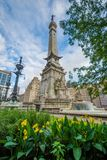 The Soldiers and Sailors Monument in downtown Indianapolis, Indiana.  royalty free stock photos