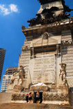 Soldiers and Sailors Monument. A family prepares to enter the Soldiers and Sailors Monument in downtown Indianapolis Royalty Free Stock Photography