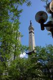 Soldiers' and Sailors' Monument - Indianapolis. Located in Indianapolis, Indiana, this is a view of the top of the monument. It was completed in 1901 and is in Stock Image