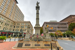Soldiers and Sailors Monument -Lancaster, Pennsylvania. Soldiers and Sailors Monument in Lancaster, Pennsylvania. It is a 43-foot (13 m) tall Gothic Revival Royalty Free Stock Photo