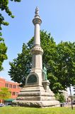 Watertown, New York State, USA. Soldiers' and Sailors' Monument in Public Square in downtown Watertown, Upstate New York, USA royalty free stock photo