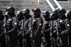 Soldiers of the Serbian police Stock Photo