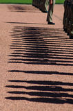 Soldiers shadows. Australian soldiers in attention, detail photo of their shadows, photo taken in Canberra Royalty Free Stock Image