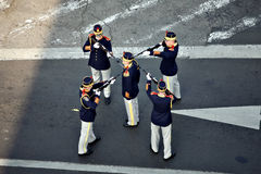 Soldiers stand in formation Royalty Free Stock Images