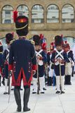 Soldiers stand in formation during Tamborrada of San Sebastian. Basque Country. Stock Photos