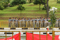 Soldiers on State funeral of Lee Kuan Yew in Singapore. State funeral of Lee Kuan Yew in Singapore, in 2015, March 29 Royalty Free Stock Photography