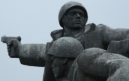 Soldiers Statue, Kiev, Ukraine Royalty Free Stock Images