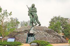 Soldiers Statue In The War Memorial of Korea Royalty Free Stock Photos