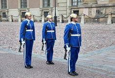 Soldiers in Stockholm, Sweden Royalty Free Stock Photos