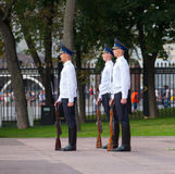 Soldiers taking part in Changing of Honor Guard Royalty Free Stock Photo