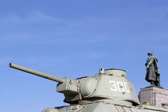 Soldiers and tanks Royalty Free Stock Photo