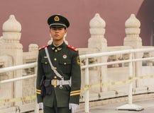 Soldiers in Tianamen square Stock Photo