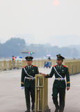 Soldiers of tiananmen square Stock Photography