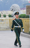 Soldiers of tiananmen square Royalty Free Stock Images