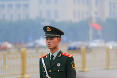 Soldiers of tiananmen square Royalty Free Stock Image