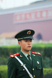 Soldiers of tiananmen square Stock Image