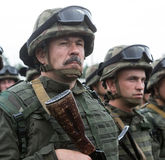 Soldiers at training Center of National Guard of Ukraine Royalty Free Stock Images