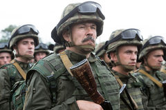 Soldiers at training Center of National Guard of Ukraine Royalty Free Stock Photography