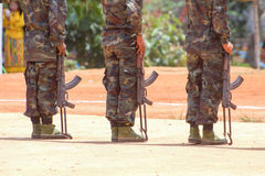 Soldiers In A Training Stock Image