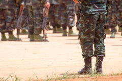 Soldiers In A Training Royalty Free Stock Photos